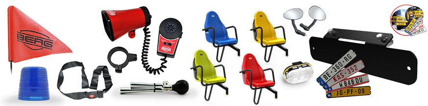 Pedal karts accessories