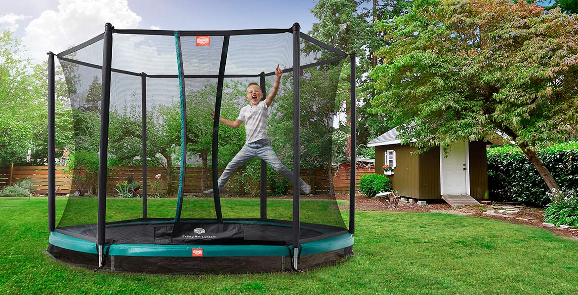 BERG InGround Talent Green 300 + Safety Net Comfort