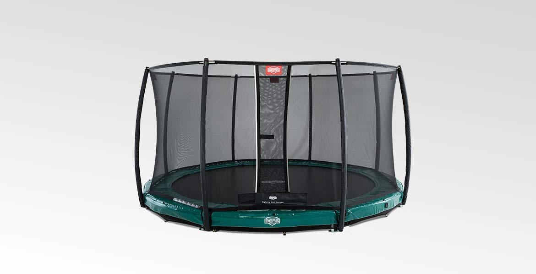 BERG InGround Elite Green 380 + Safety Net Deluxe