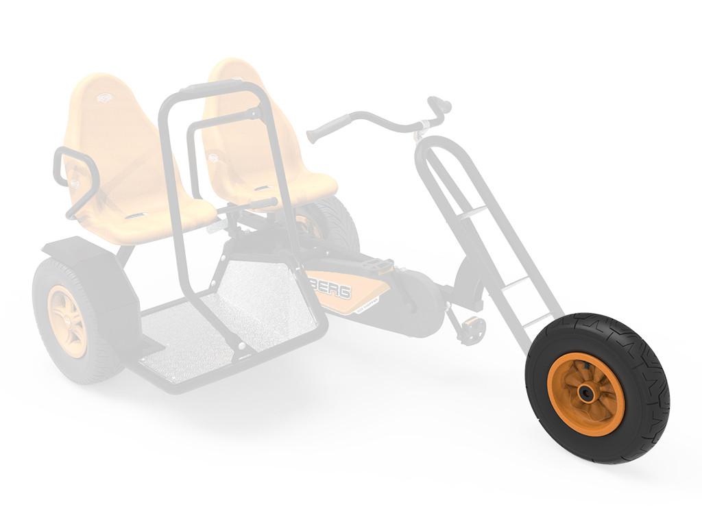 Wheel orange 400/100-8 radiall symmetric