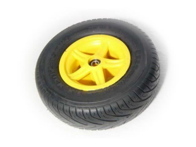 Wheel 5-spoke yellow 400/140-8 slick left
