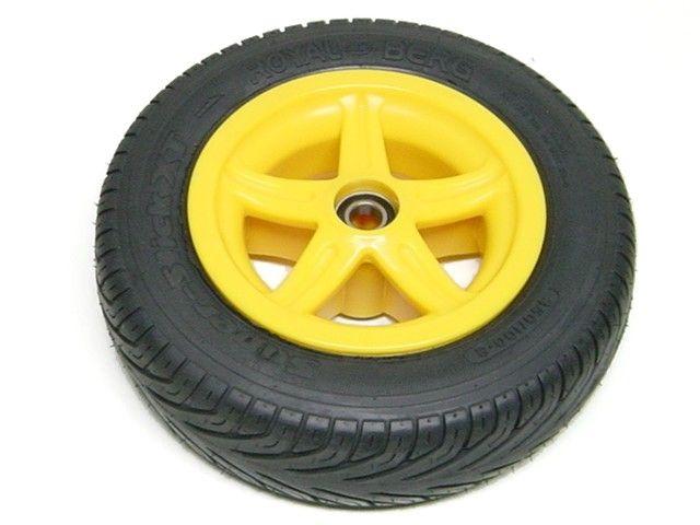 Wheel 5-spoke yellow 350/100-8 slick right