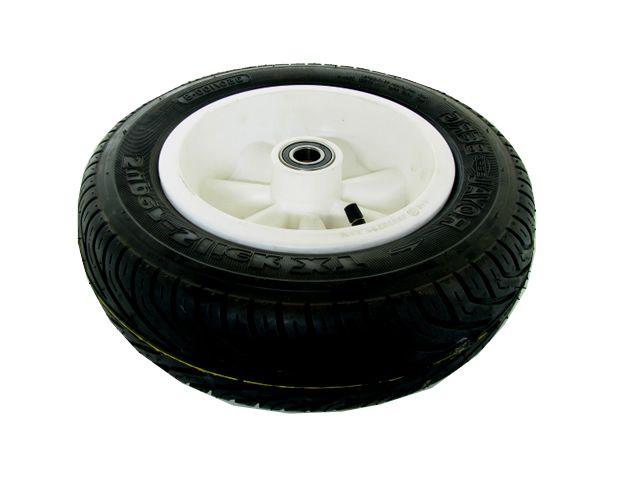 Wheel white 350/100-8 slick right
