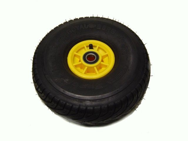 Wheel yellow 250/80-4 slick left