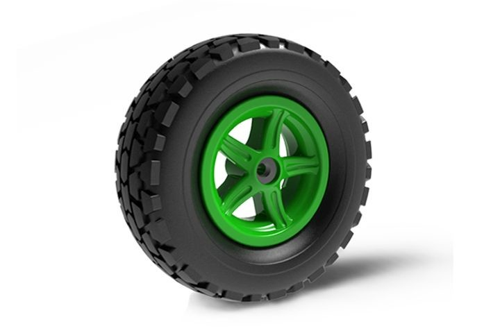 Wheel 5-spoke green 400/140-8 all terrain