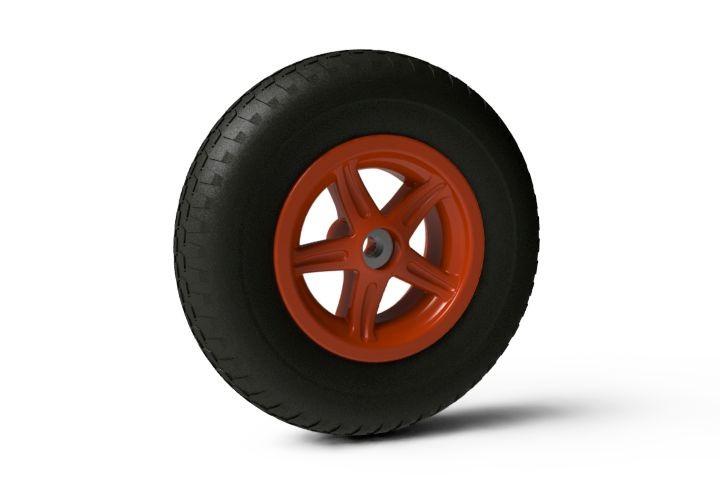 Wheel 5-spoke orange 4.80/400-8