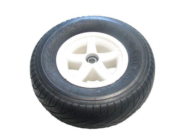 Wheel 5-spoke white 400/140-8 slick right