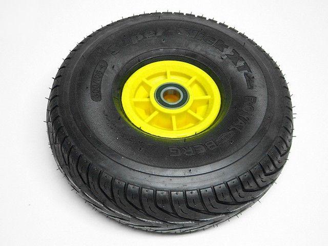 Wheel yellow 300/105-4 slick left