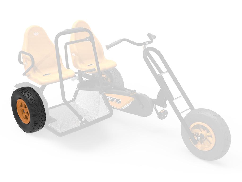 Wheel 5-spoke orange 400/140-8 slick right