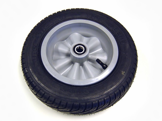 Wheel grey 350/100-8 slick left