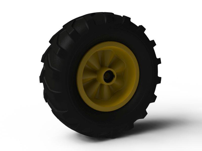 Wheel yellow 460/165-8 Farm left