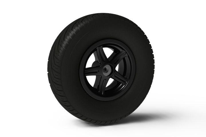 Wheel 5-spoke black 400/140-8 slick right