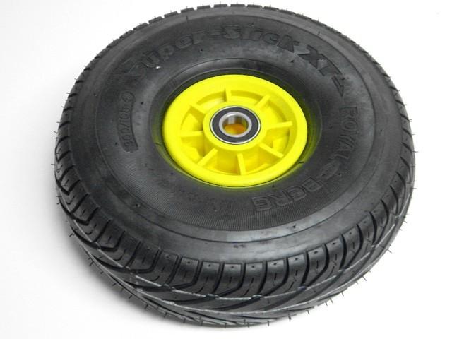 Wheel yellow 300/105-4 slick right