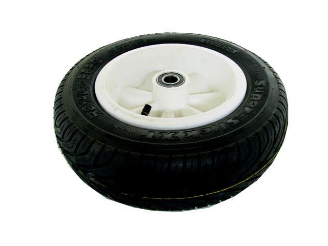 Wheel white 350/100-8 slick left