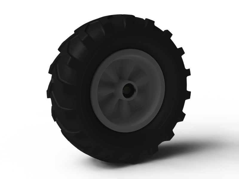 Wheel grey 460/165-8 Farm left