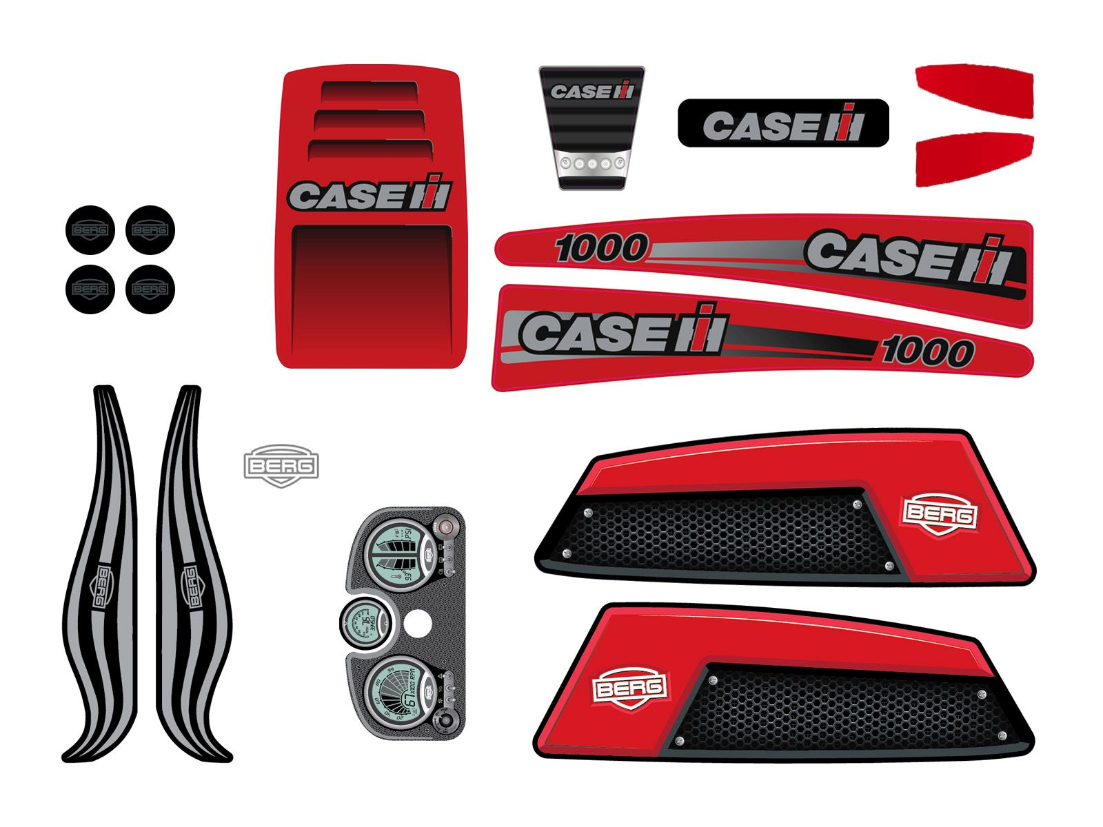 XL Frame - Sticker set Case IH