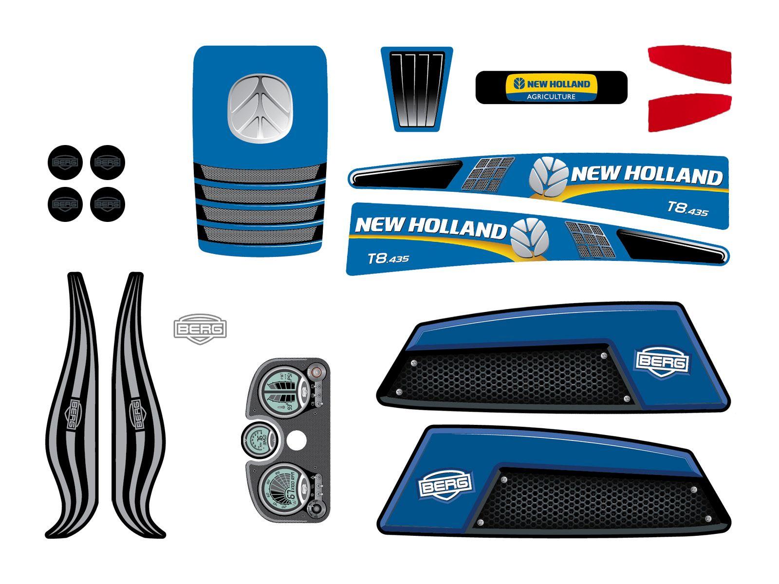 XL Frame - Sticker set New Holland