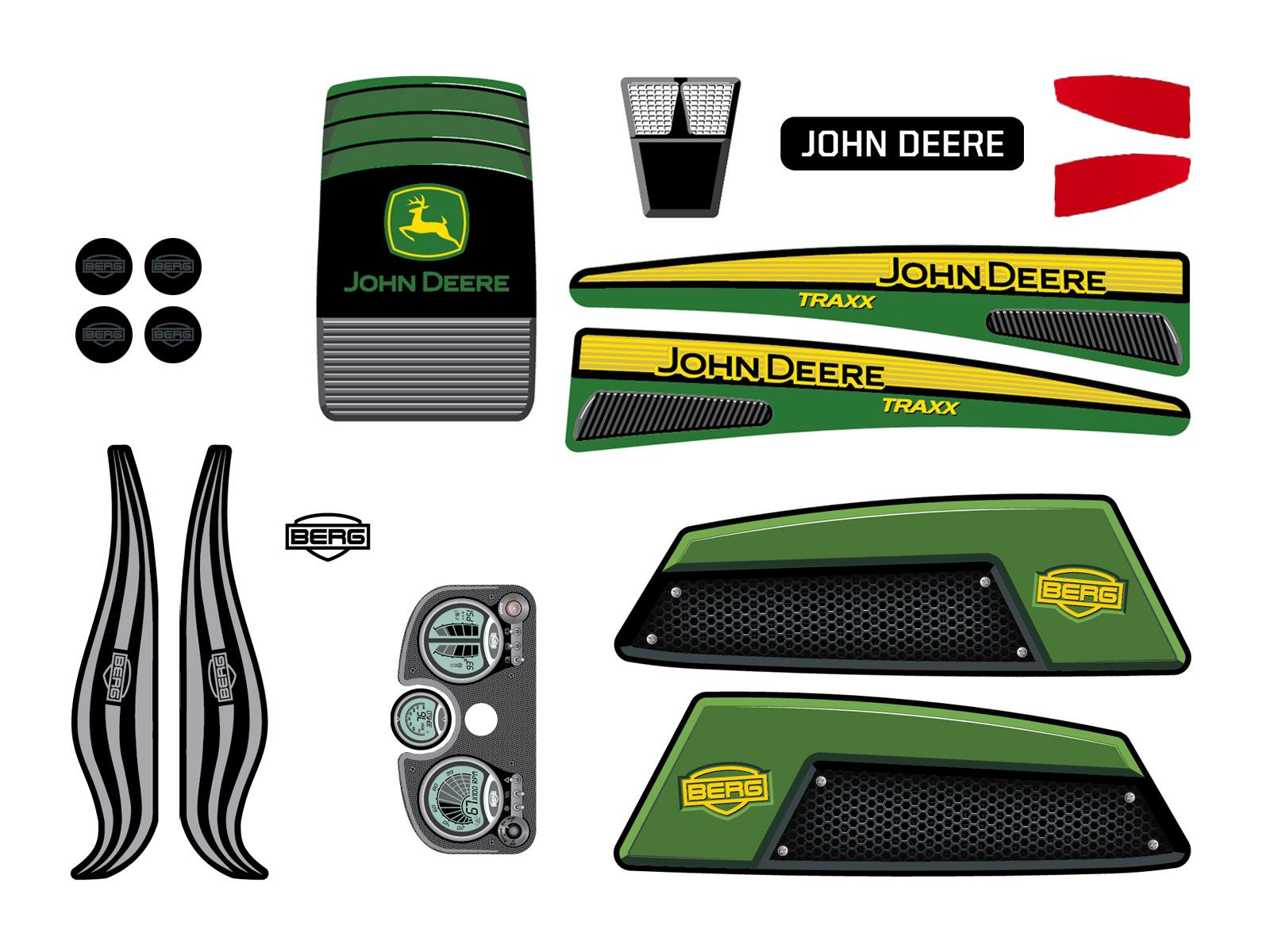 XL Frame - Sticker set John Deere