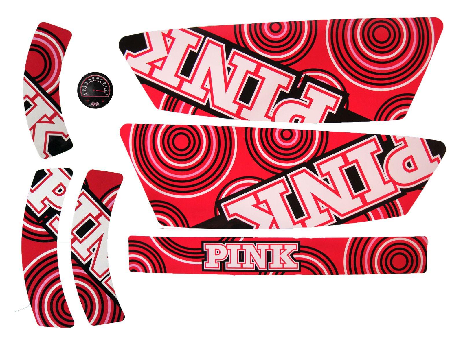 XL Frame - Sticker set Compact Pink