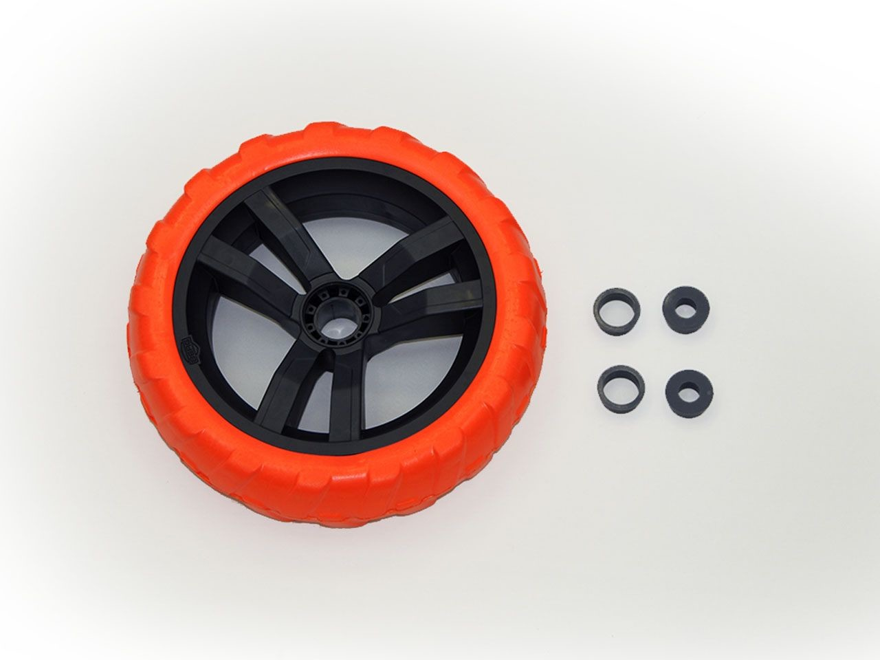 Wheel black-orange 9x2 right (blue cover)