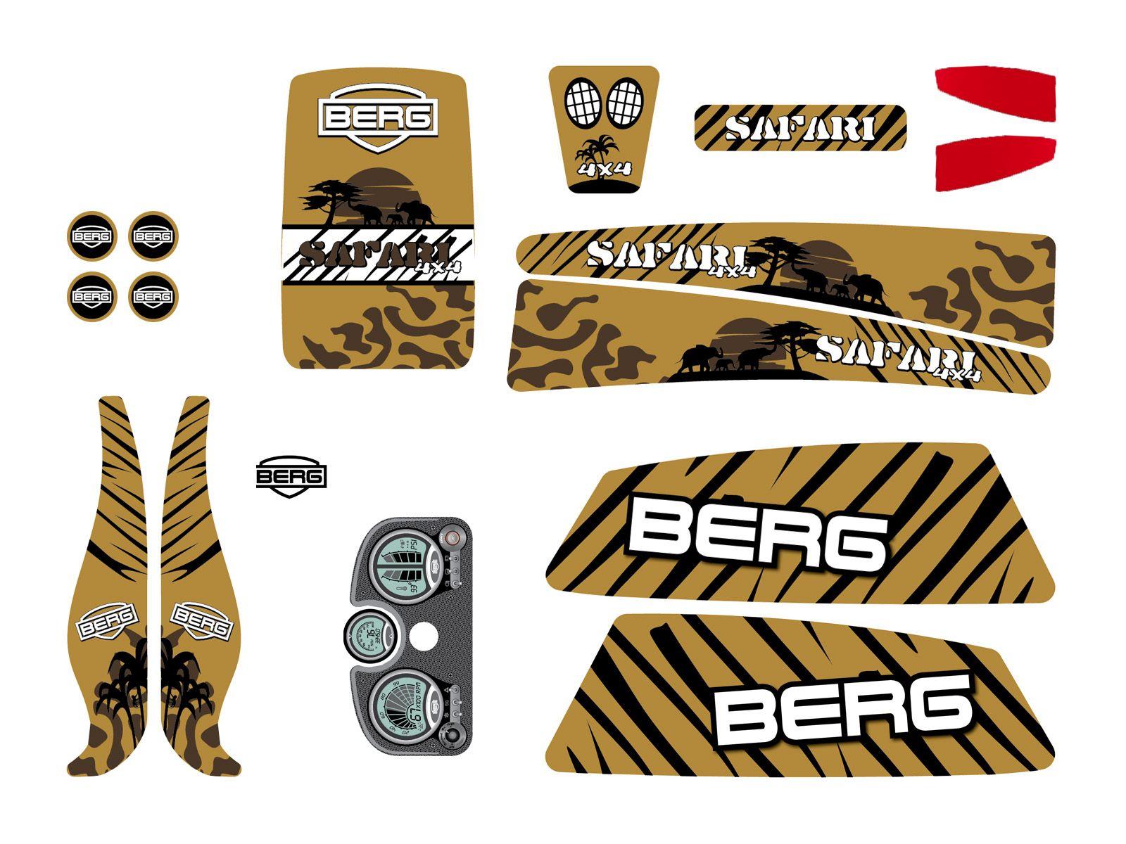 XL Frame - Sticker set Safari