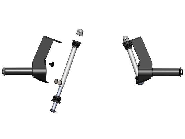 XL Frame - Stub axle set Compact