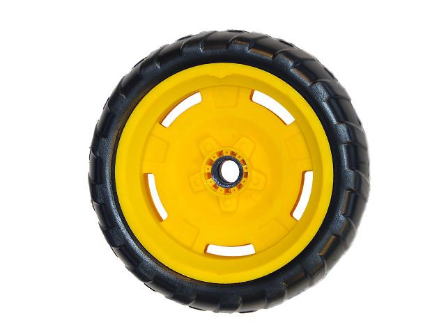 Wheel yellow-black 9x2 right Farm (yellow cap cover)