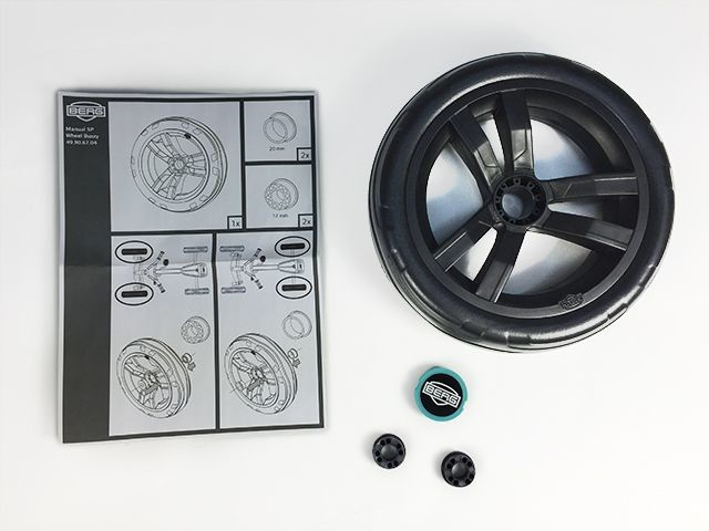 Wheel black-black 9x2 (aqua cap cover)