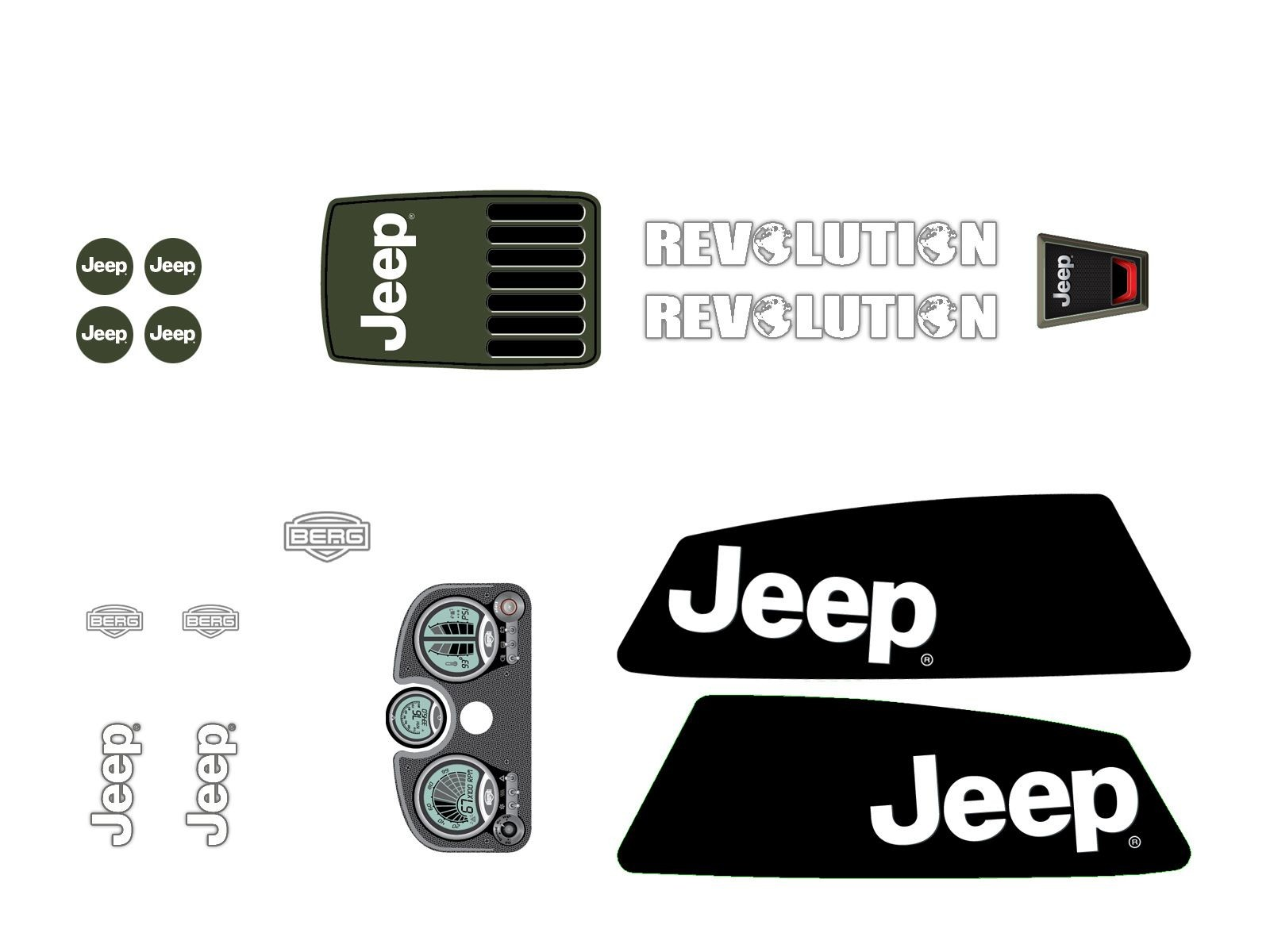 XL Frame - Sticker set Jeep® Revolution