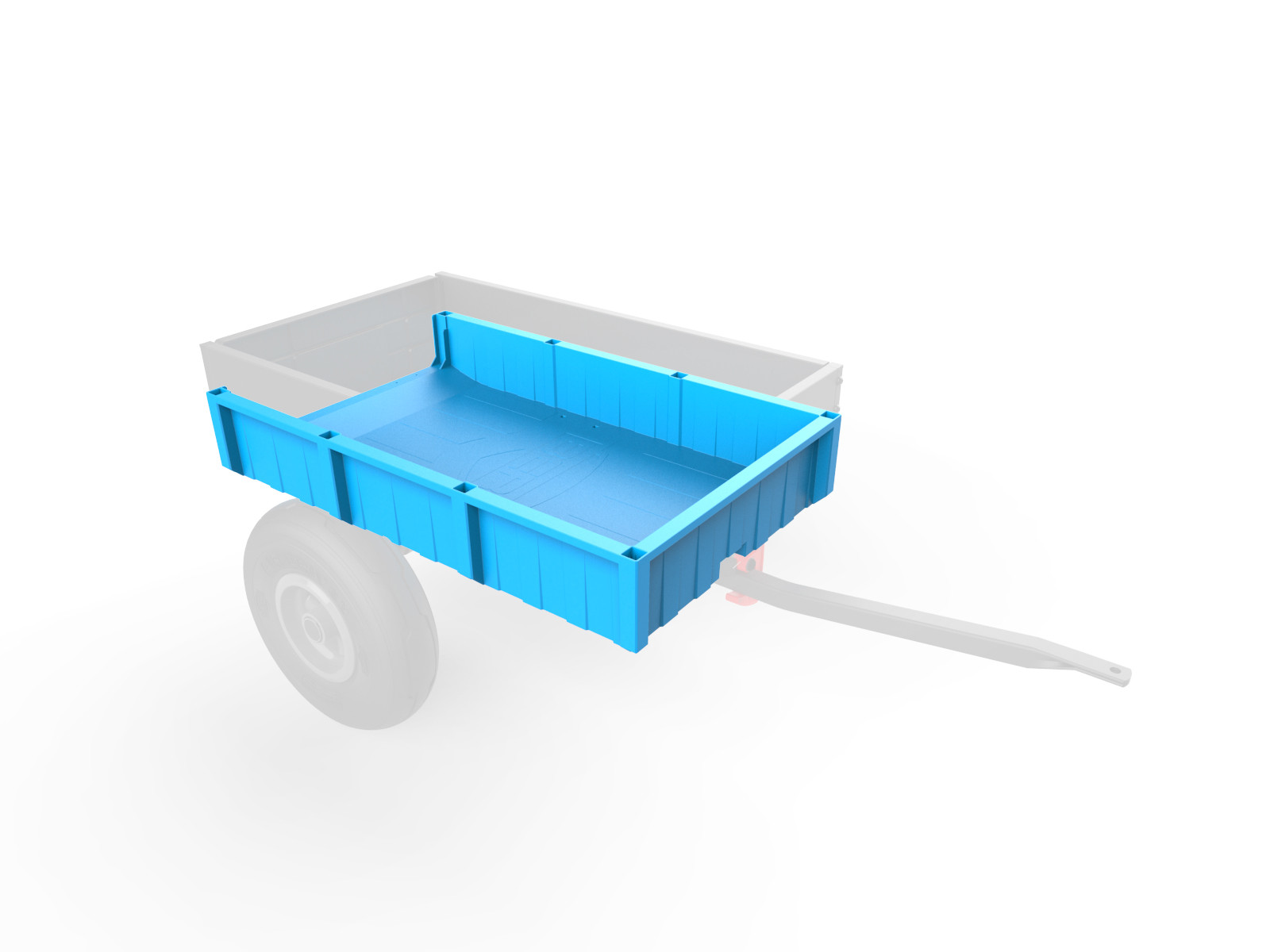 Large Trailer - Container, blue