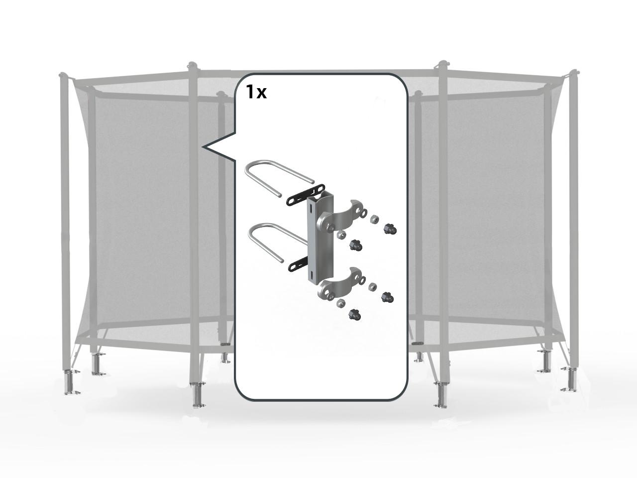 Safety Net Comfort - Bevestigingsset voor 1 paal