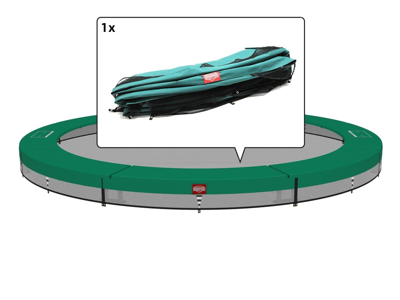 InGround Champion - Padding green 380 (12,5ft)