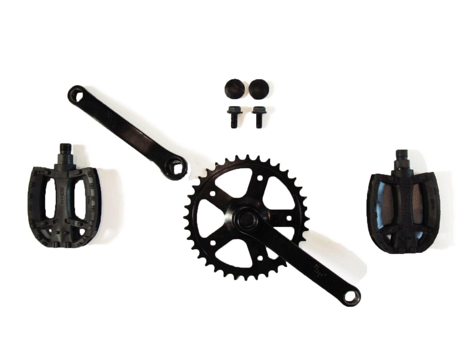Crank set 90, 28T + pedals