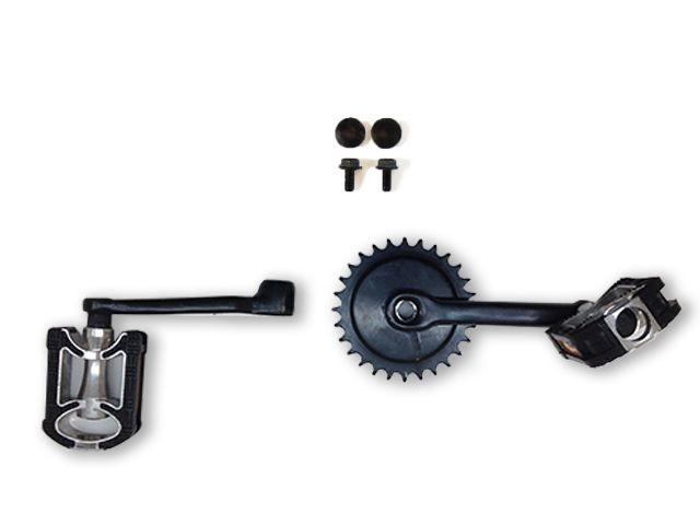 Crank set 140, 28T + pedals