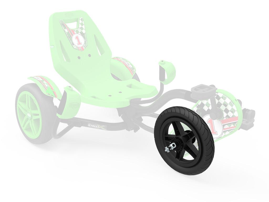 Wheel  black 12.5x2.25-8 slick + BFR-Hub