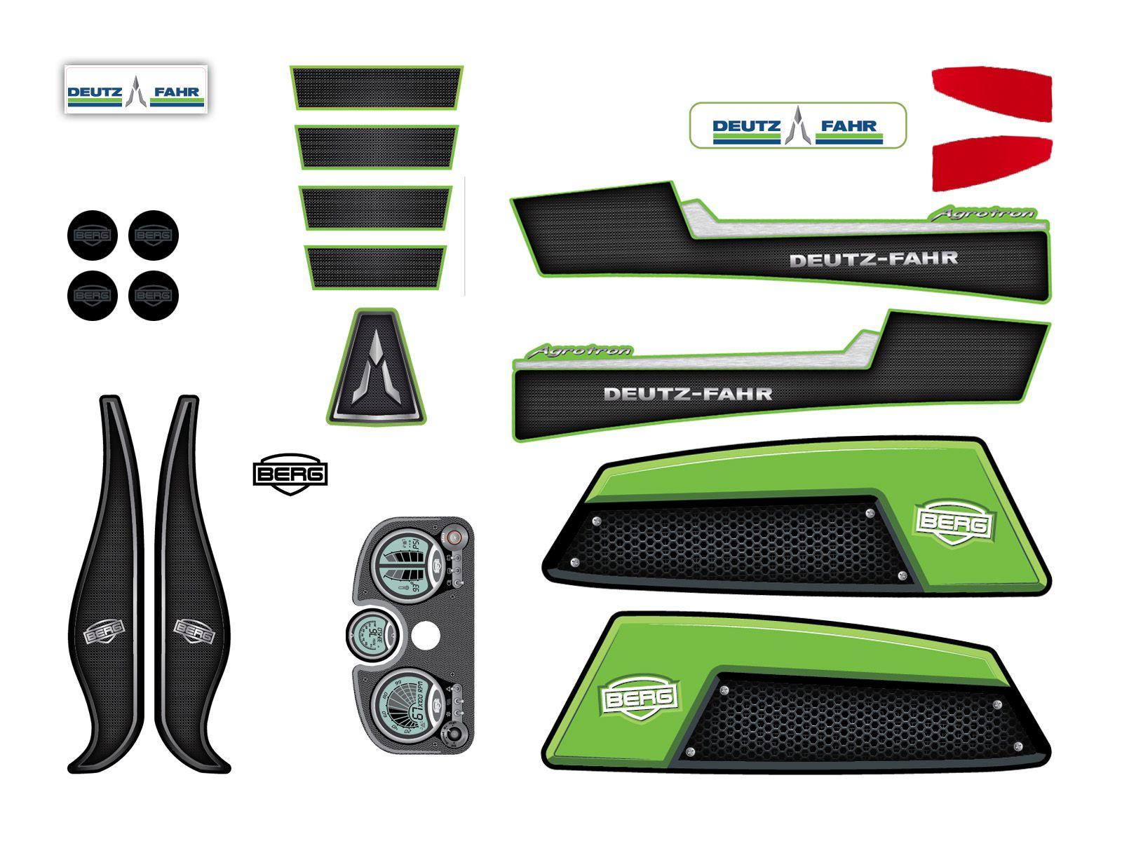 XL Frame - Sticker set DEUTZ-FAHR