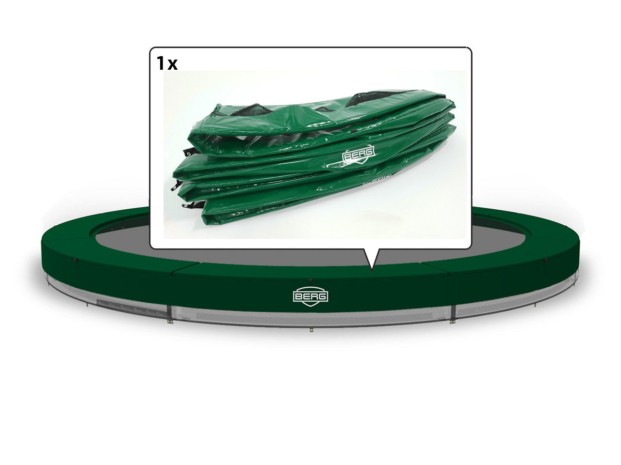 InGround Elite - Padding green 380 (12,5 ft)