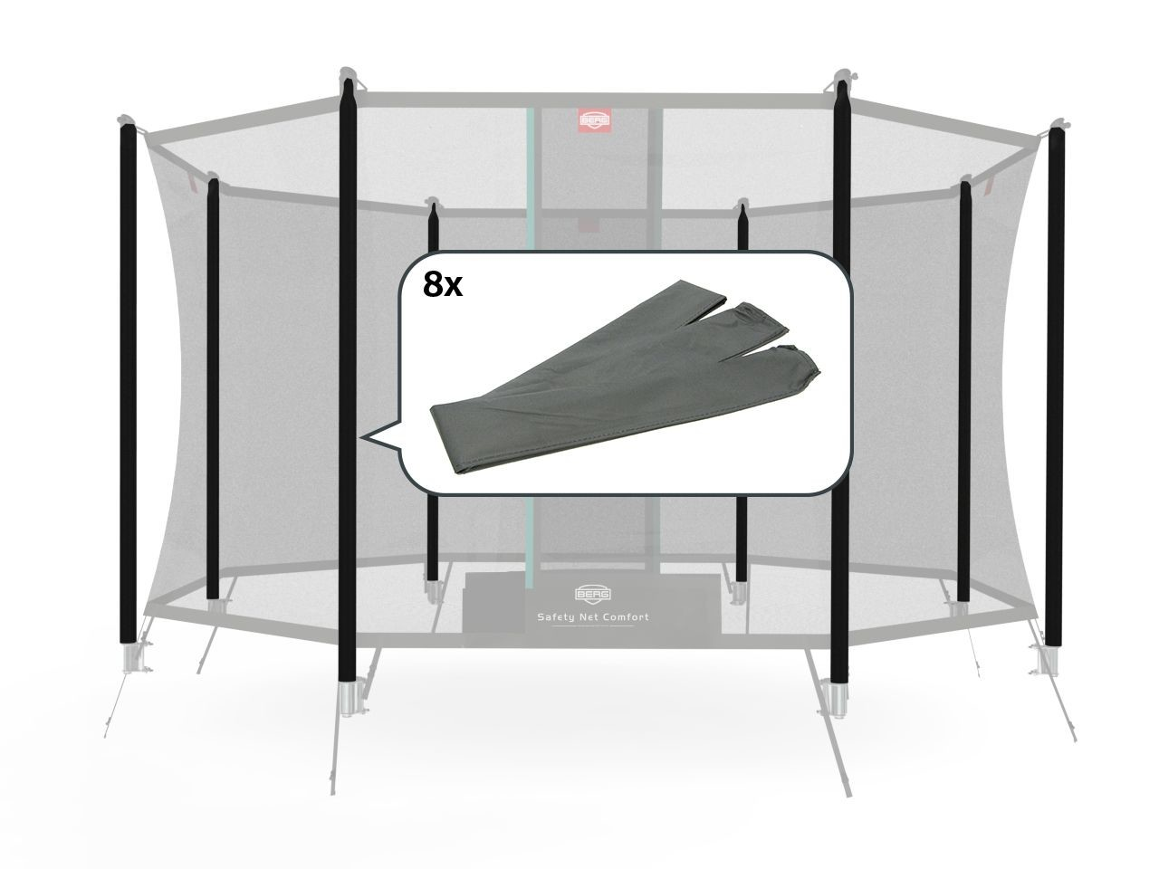 Safety Net Comfort - Set sleeves InGround (8x)