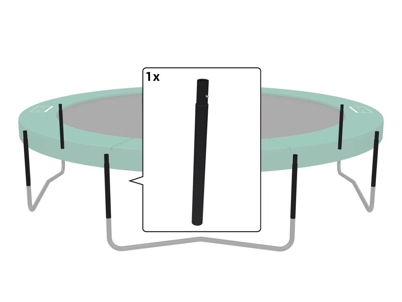 Champion - Middle post black