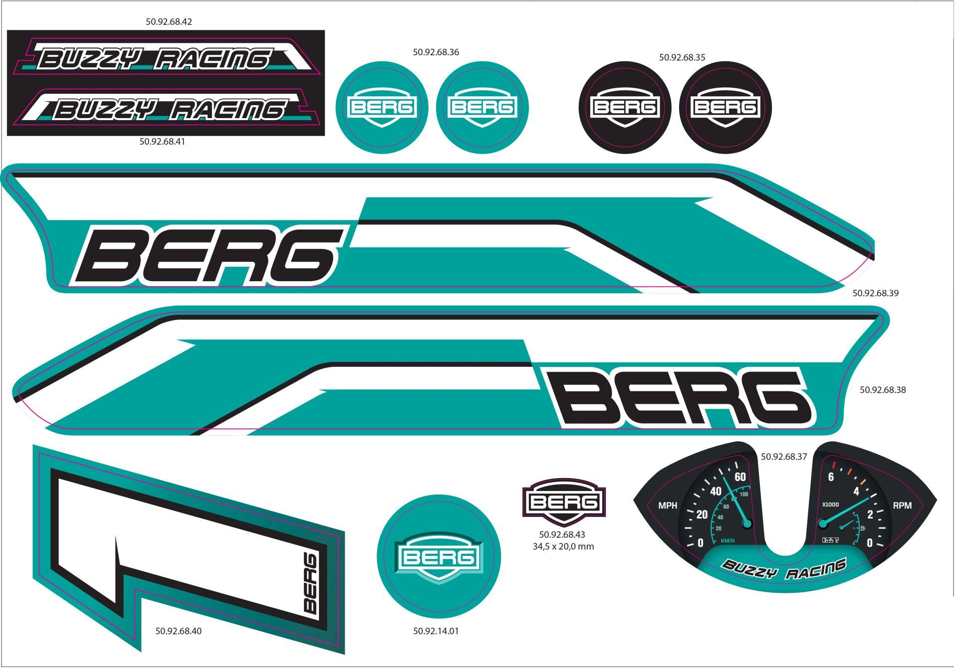 Buzzy - Sticker set Racing