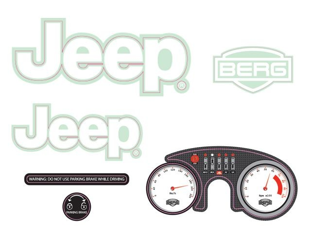 Rally - Sticker set Jeep® Adventure