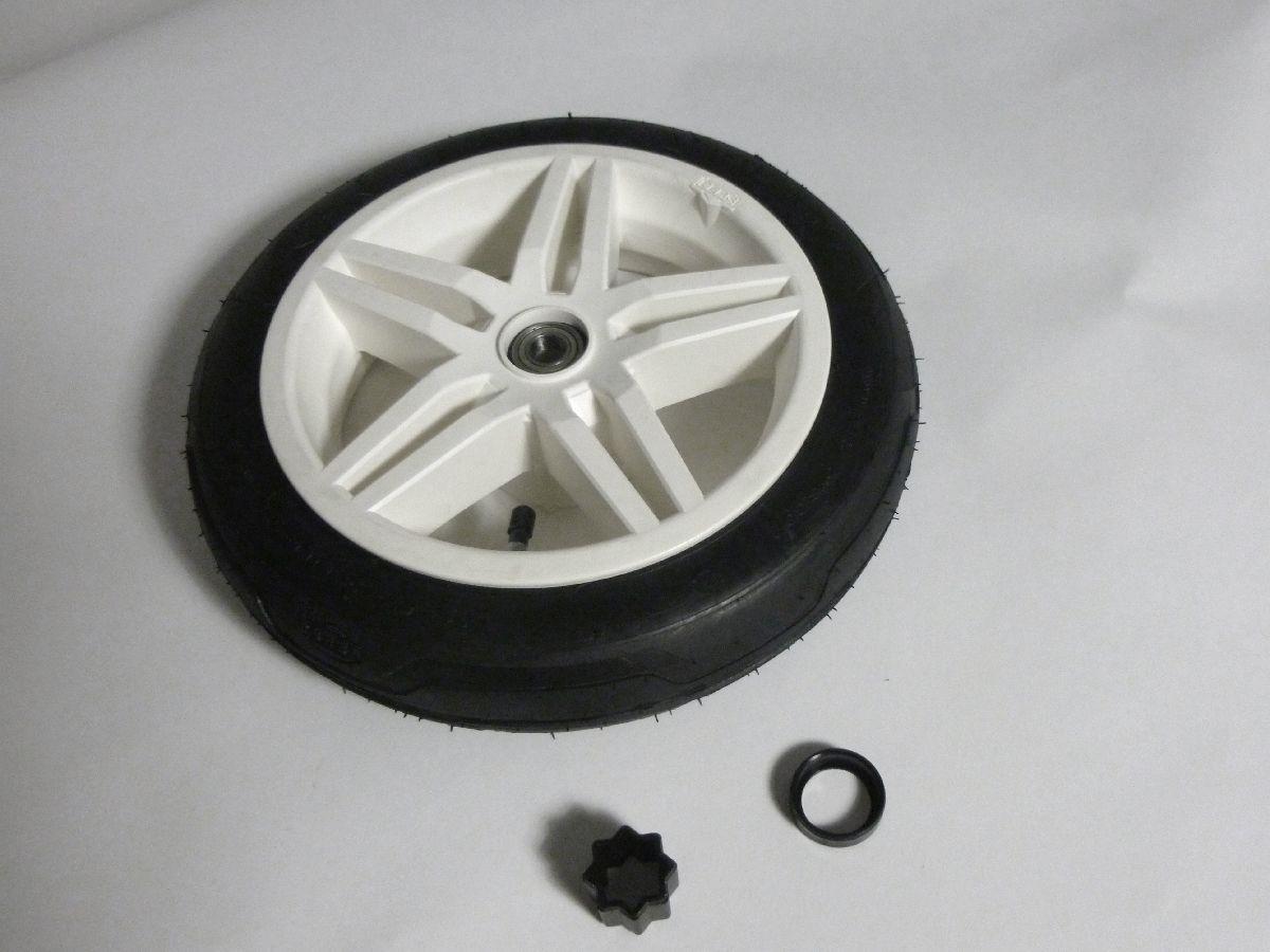 Wheel white 12.5x3.00-9 slick, traction