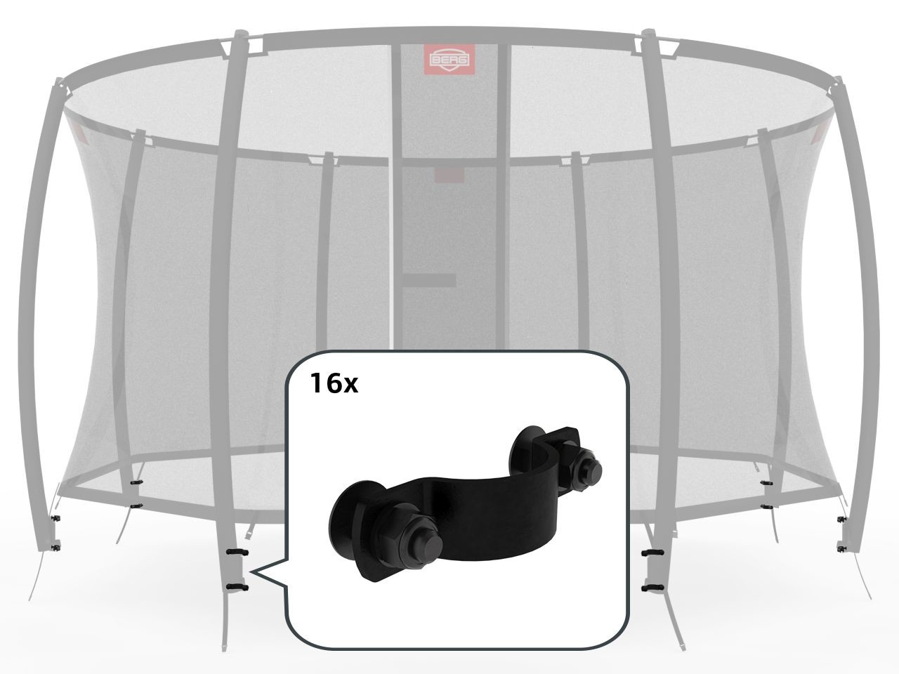 Safety Net Deluxe - Fasteners for 8 poles