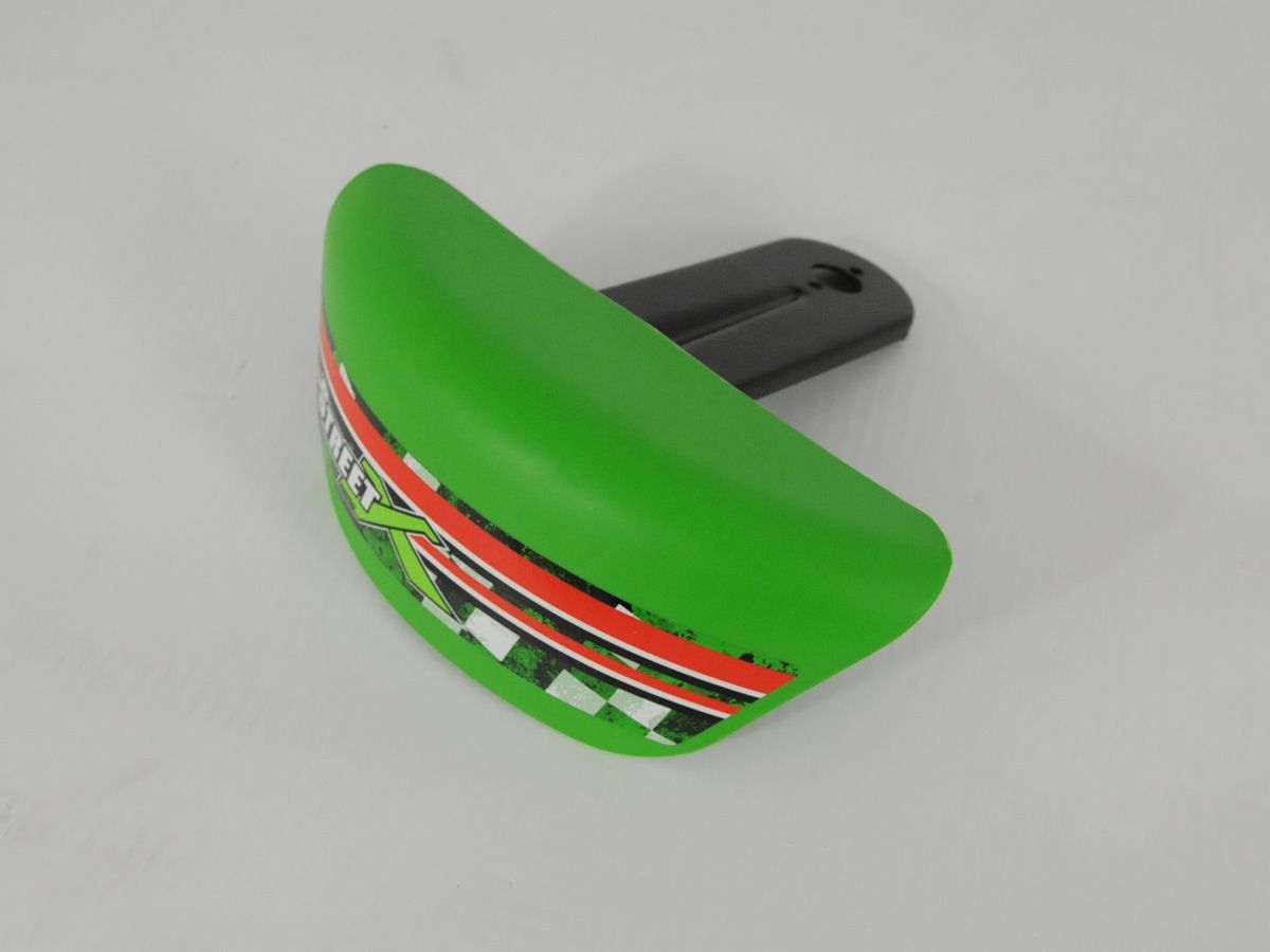 Street X - Mudguard green with carrier right