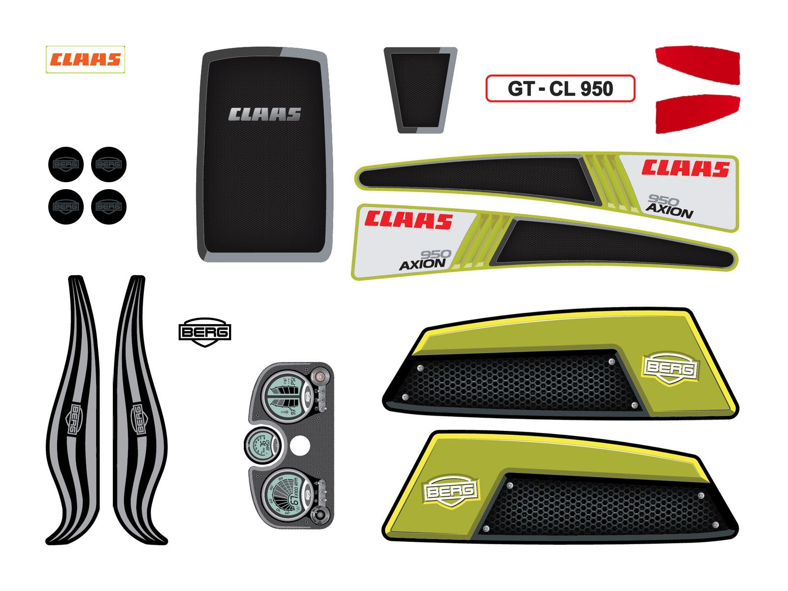 XL Frame - Sticker set CLAAS
