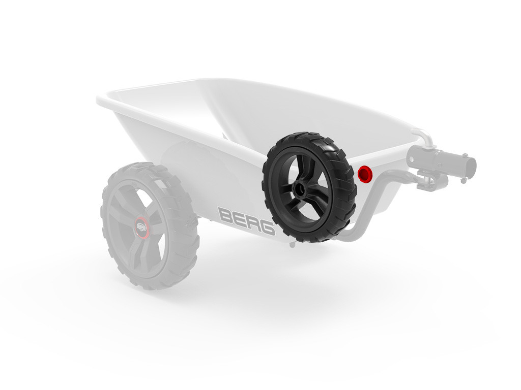 Wheel grey-black 9x2 left (red cover)