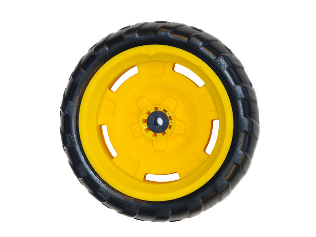 Wheel yellow-black 9x2 left Farm (yellow cap cover)