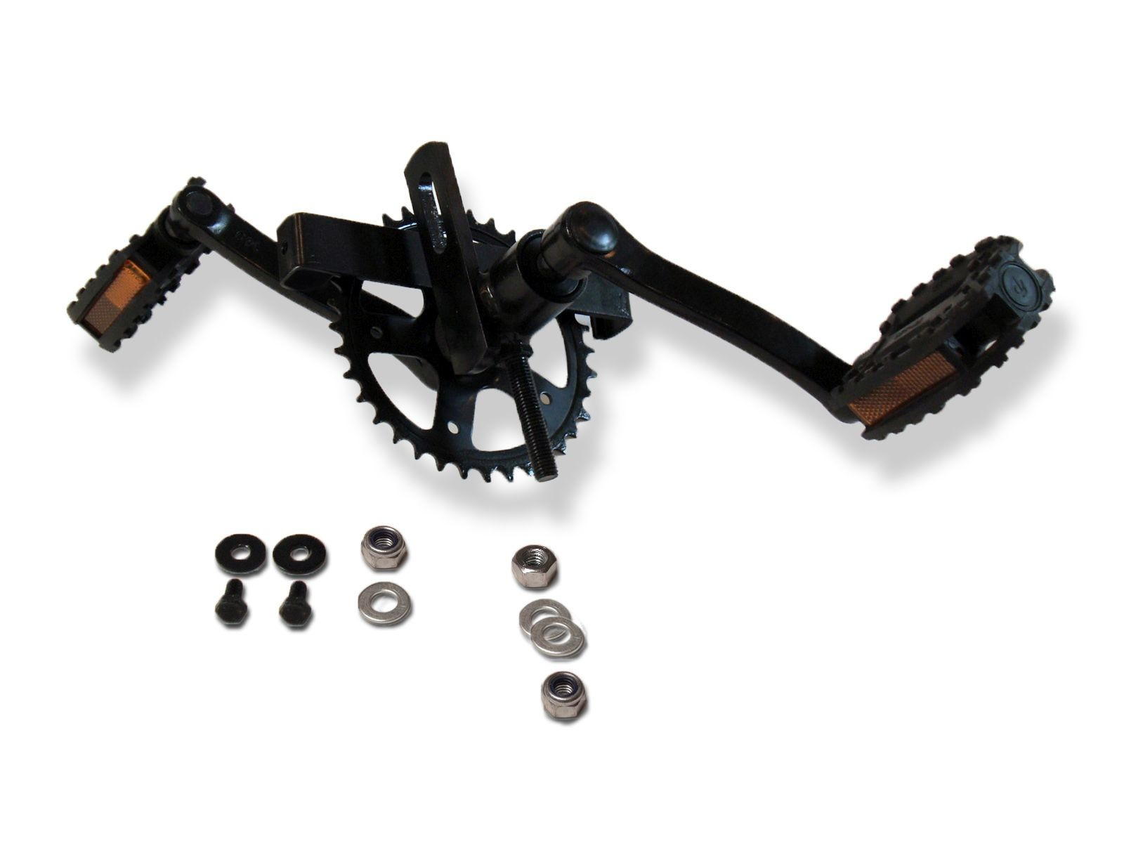 XL Frame - Crank shaft with crank set 140, 36T + pedals