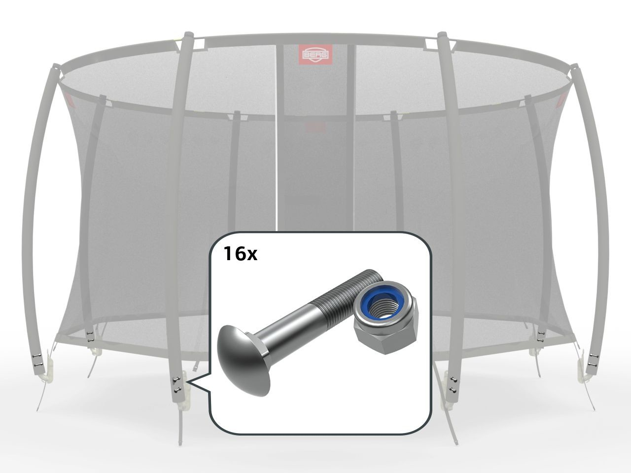 Safety Net T-Series - Fasteners for clamp