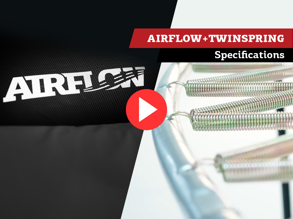BERG Airflow & TwinSpring trampoline | specificaties